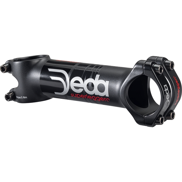 Deda Elementi POTENCE SUPERLEGGERO 120mm TEAM finish, ALU 7050, 82°, VIS PVD TITANIUM
